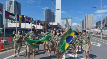 Por conta da pandemia de Covid-19, apenas Bruninho, do vôlei, e Ketleyn Quadros, do judô, vão participar da cerimônia de abertura dos jogos