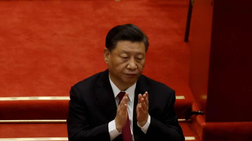 Presidente da China, Xi Jinping, durante abertura do Congresso Nacional Popular em Pequim