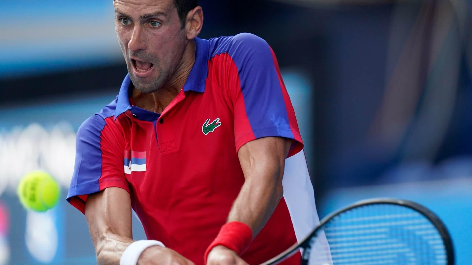 O sérvio Novak Djokovic, nº1 do mundo no tênis, faz sua estreia em Tóquio
