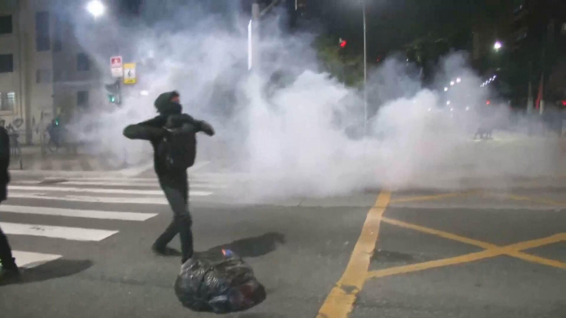 Protesto contra o governo termina em confronto com policiais em SP (24.Jul.2021)