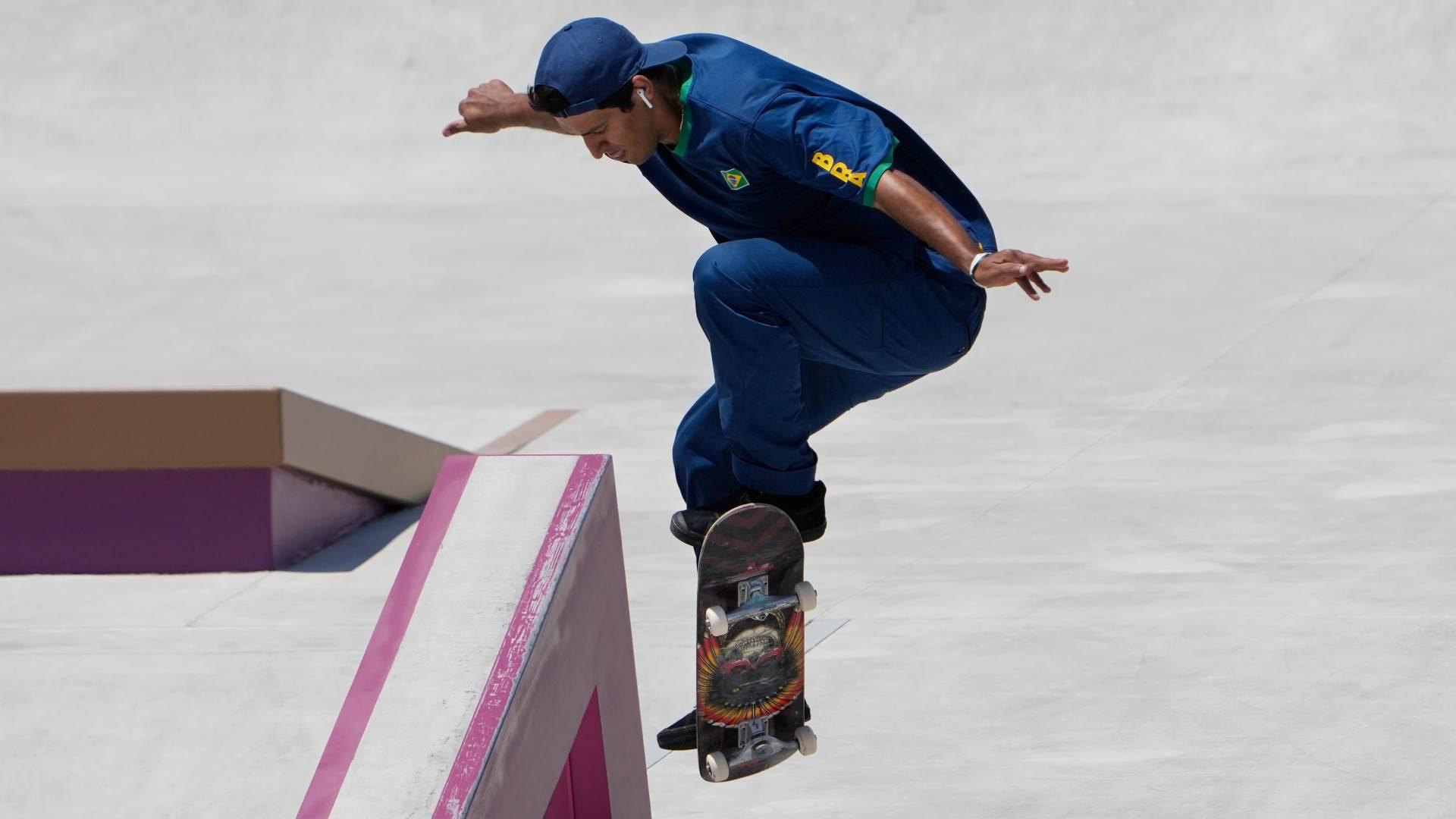 Kelvin Hoefler, brasileiro do skate, nas Olimpíadas