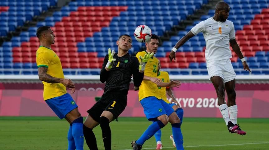 Brasil e Costa do Marfim ficaram no empate sem gols na segunda rodada do futebol masculino