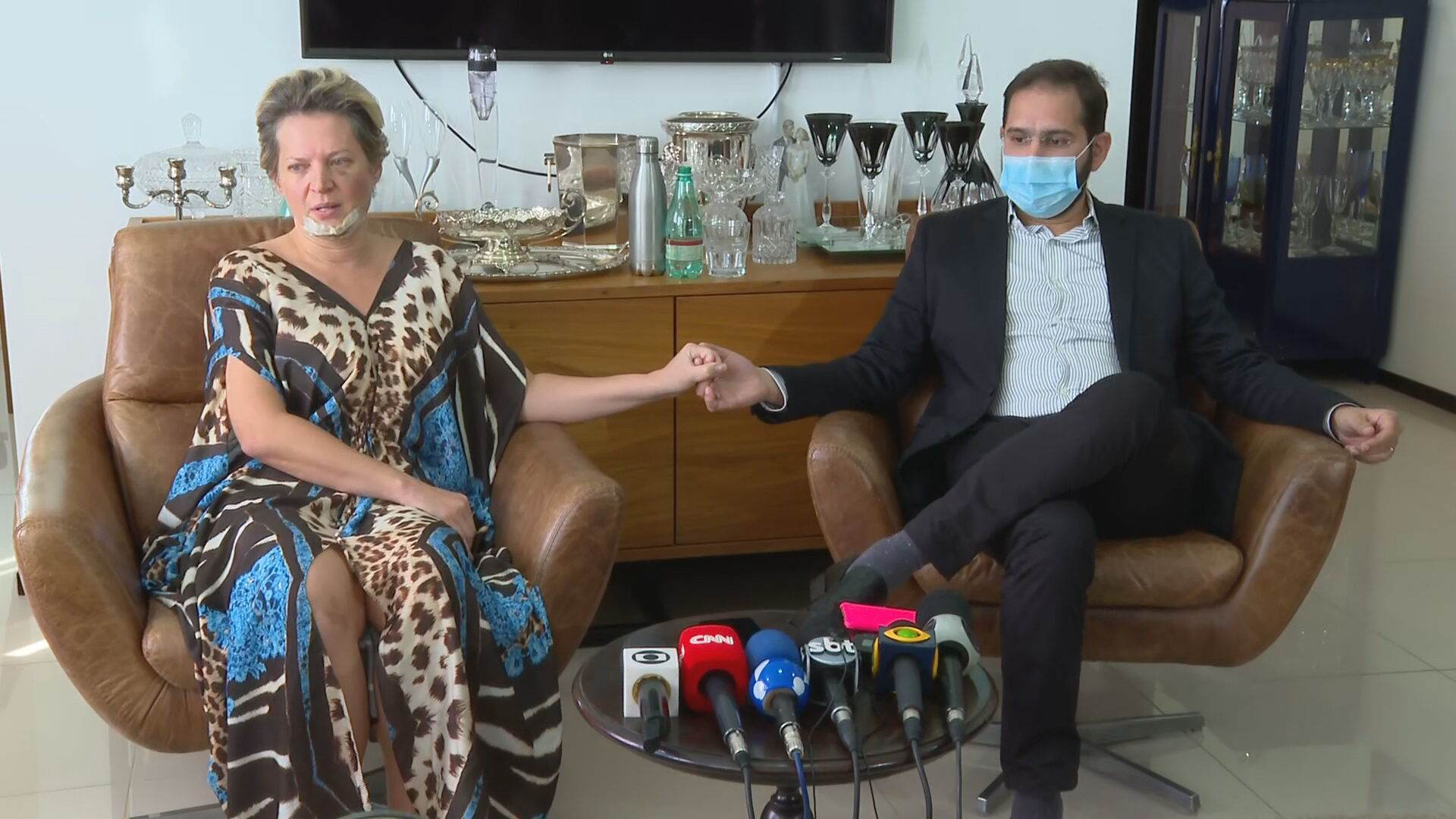 A deputada federal Joice Hasselmann (PSL-SP) e o marido Daniel França (25.Jul.21