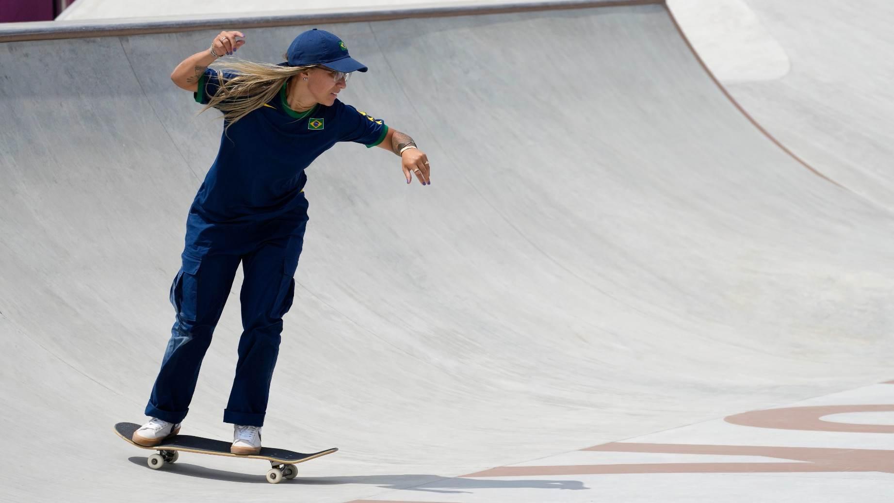 Pamela Rosa, brasileira do skate, nas Olimpíadas