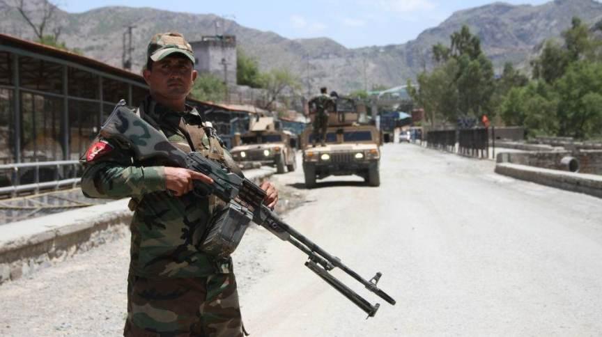 Soldado das forças de segurança afegãs