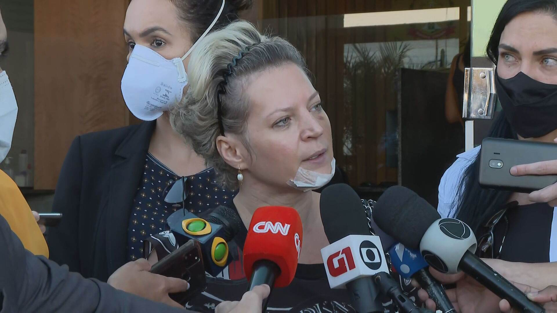 Deputada federal Joice Hasselmann (PSL-SP) falou com a imprensa