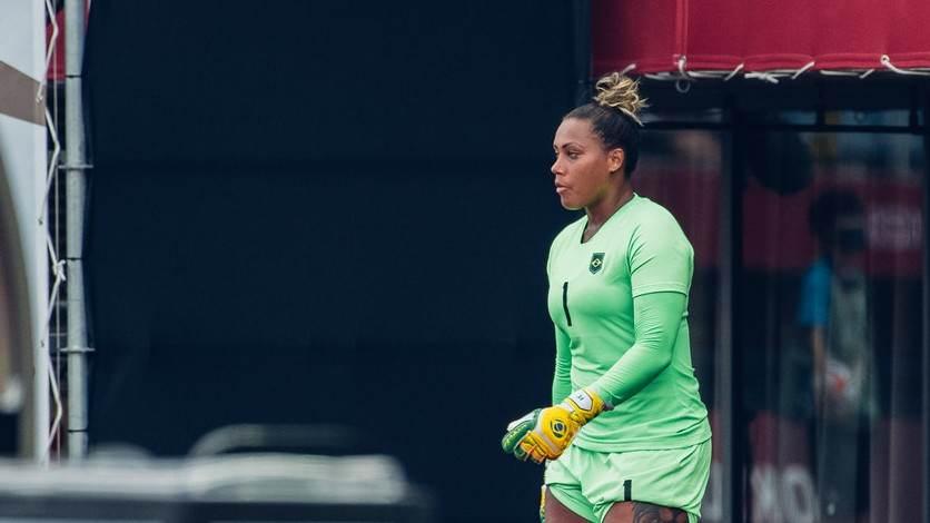Bárbara, goleira da seleção feminina de futebol nas Olimpíadas