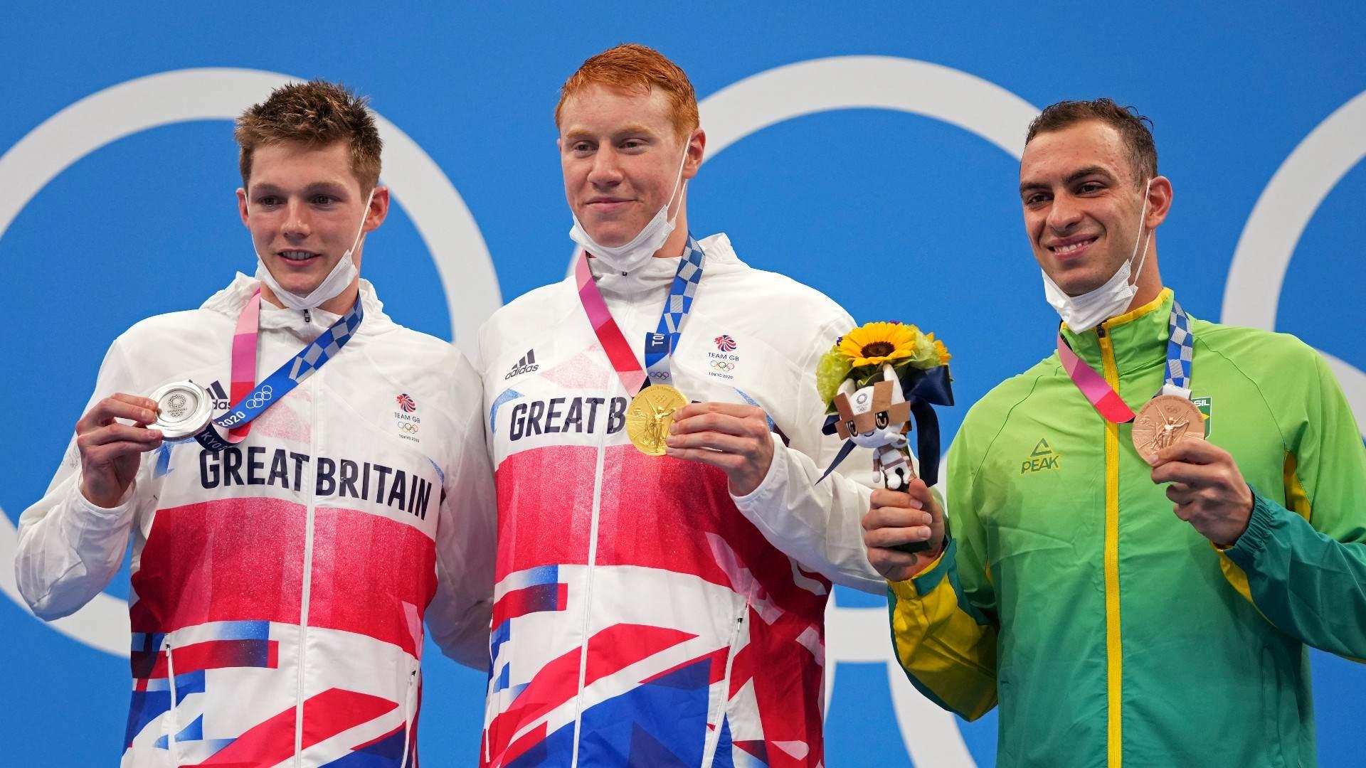 Fernando Scheffer, da natação, levou o bronze nos 200m livres