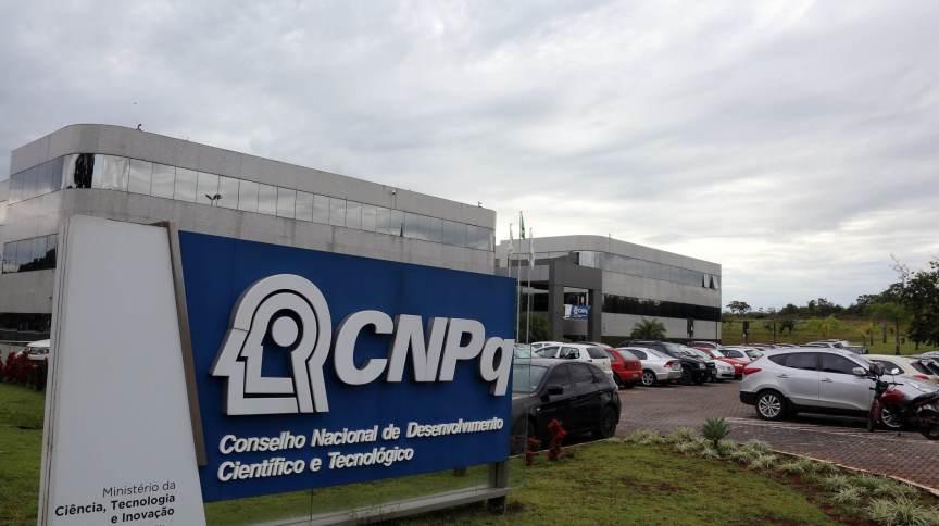 Fachada da sede do CNPq, em Brasília-DF