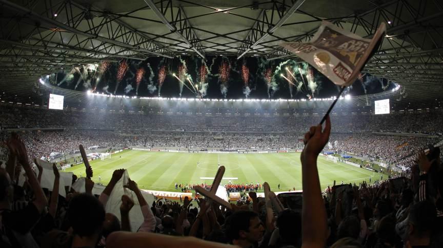 Torcida do Atlético-MG comemora título da Libertadores 2013