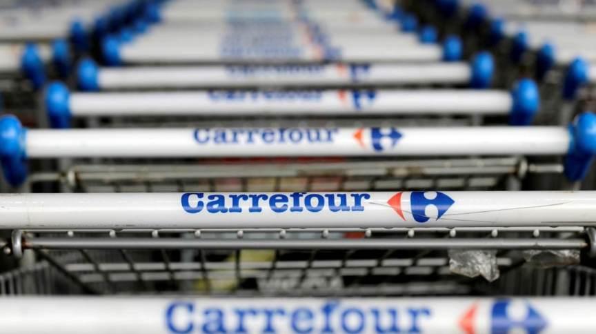 Logotipo do Carrefour em loja da rede em São Paulo. 18/7/2017