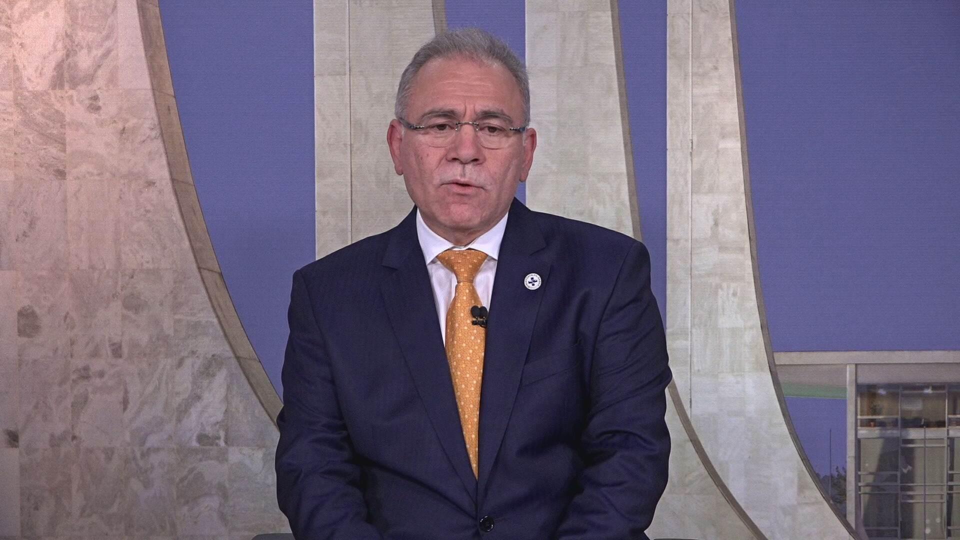 Ministro da Saúde Marcelo Queiroga em entrevista à CNN