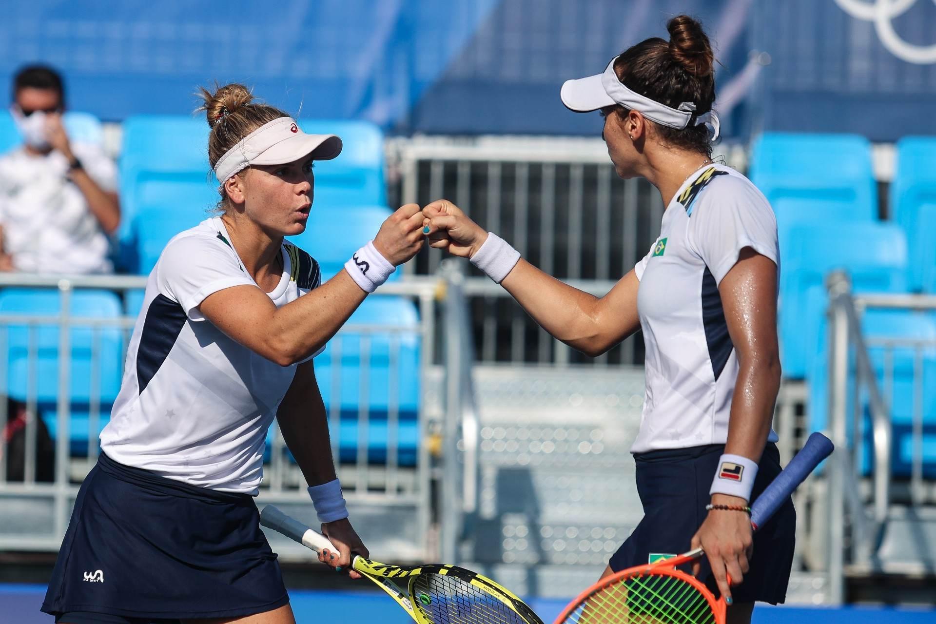 Tenistas Luisa Stefani e Laura Pigossi avançaram à semifinal nas Olimpíadas