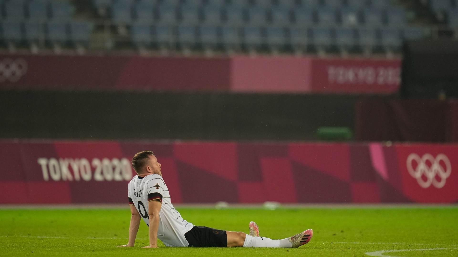 Cedric Teuchert, da Alemanha, lamenta eliminação nas Olimpíadas