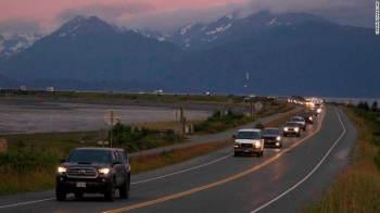 O terremoto de magnitude 8.2 atingiu a costa do Alasca, nos Estados Unidos, na noite de quarta-feira (28)