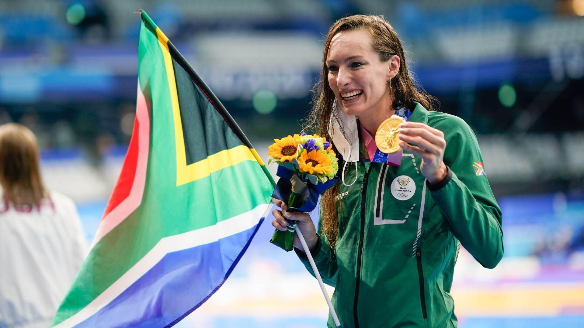 Tatjana Schoenmaker, da África do Sul estabeleceu novo recorde mundial