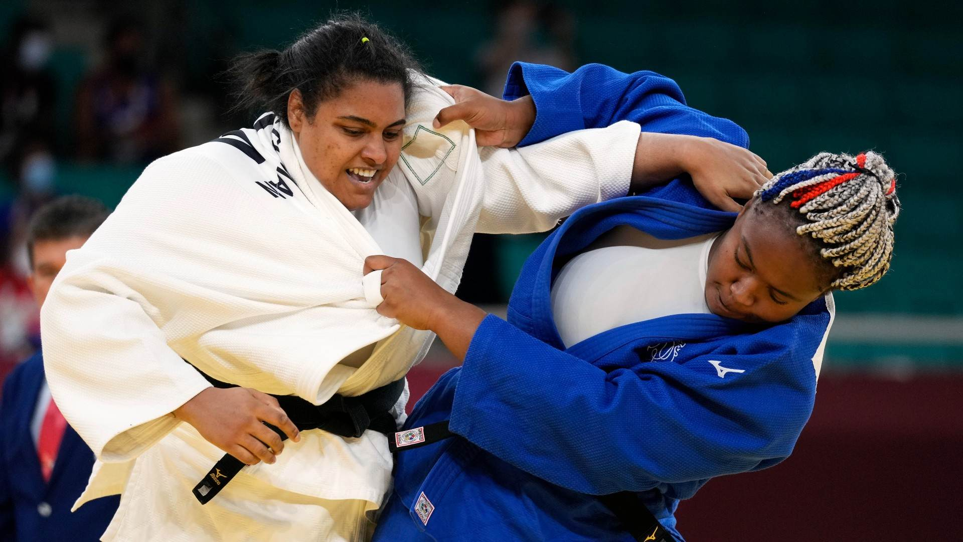 Na categoria acima de 78kg do judô feminino, brasileira Maria Suelen Altheman