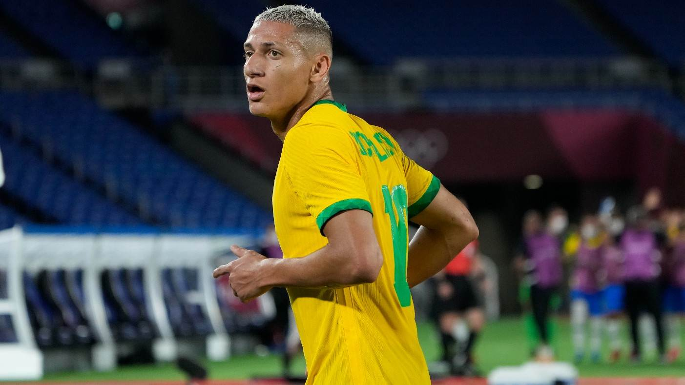 Artilheiro das Olimpíadas, Richarlison é esperança de gols do futebol brasileiro