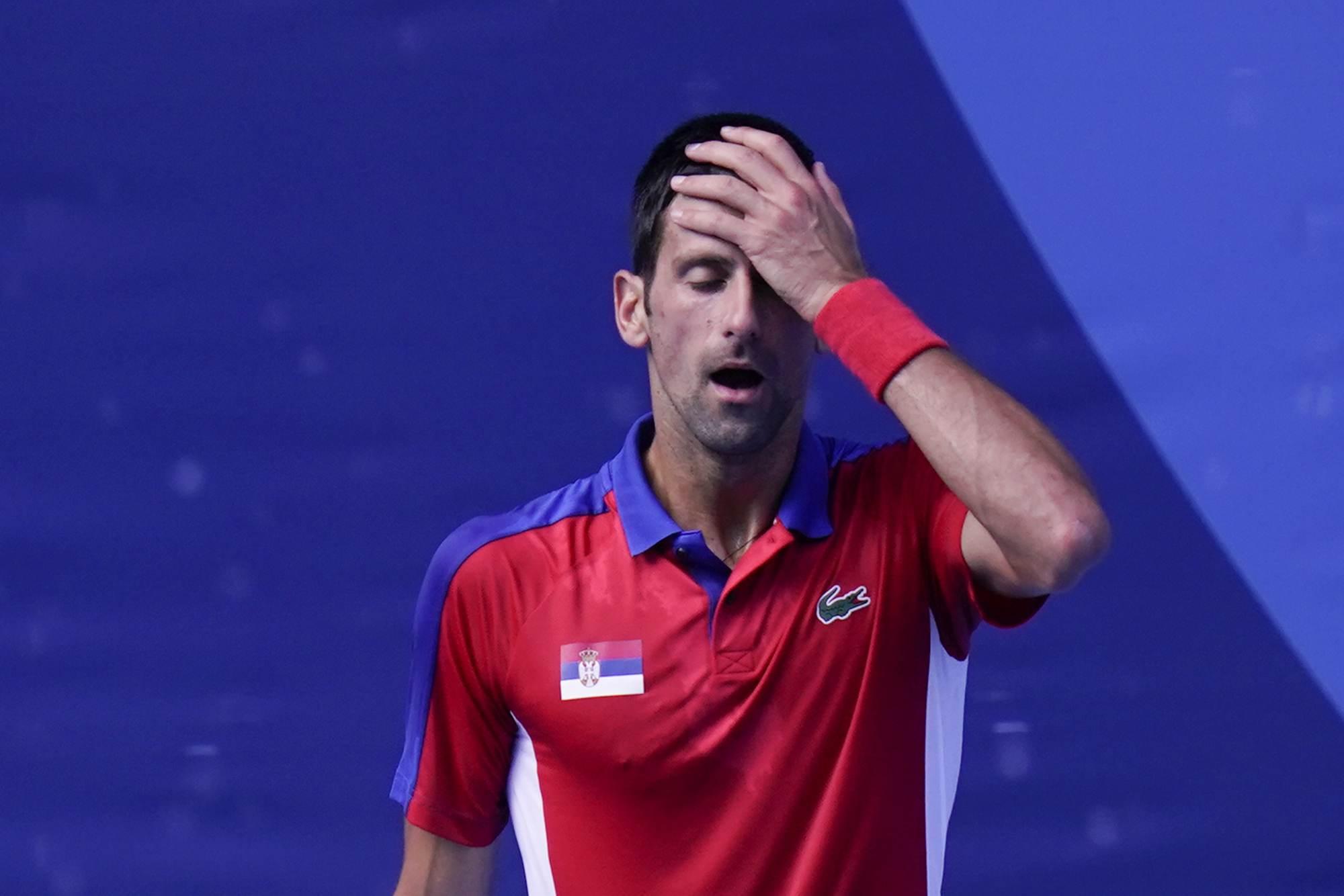 Novak Djokovic perde a disputa do bronze nas Olimpíadas 2020