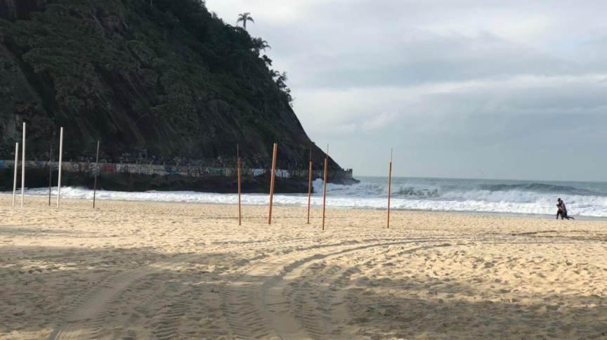 Frio afasta banhistas das praias do Rio de janeiro neste sábado (31/08)