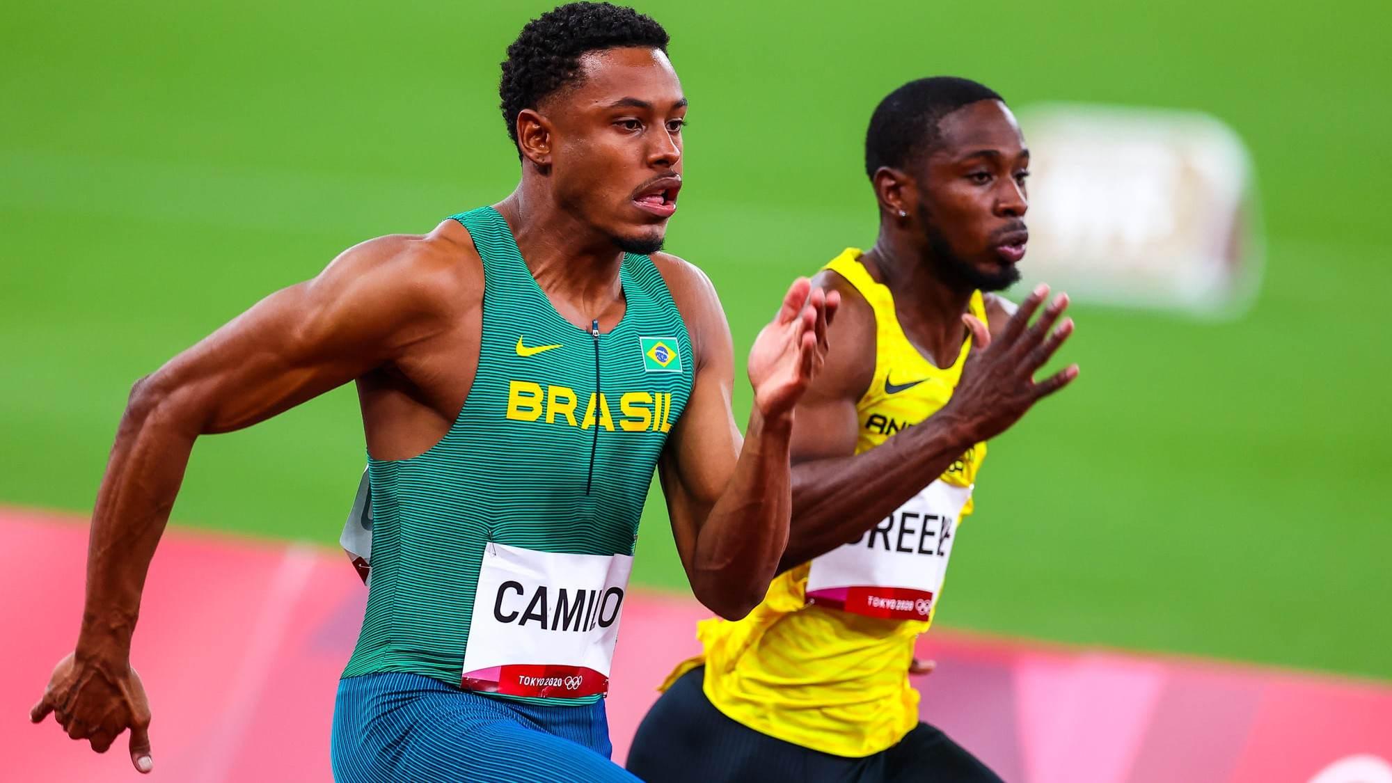 Paulo André fez o tempo de 10s17, terceiro melhor em sua bateria dos 100m rasos