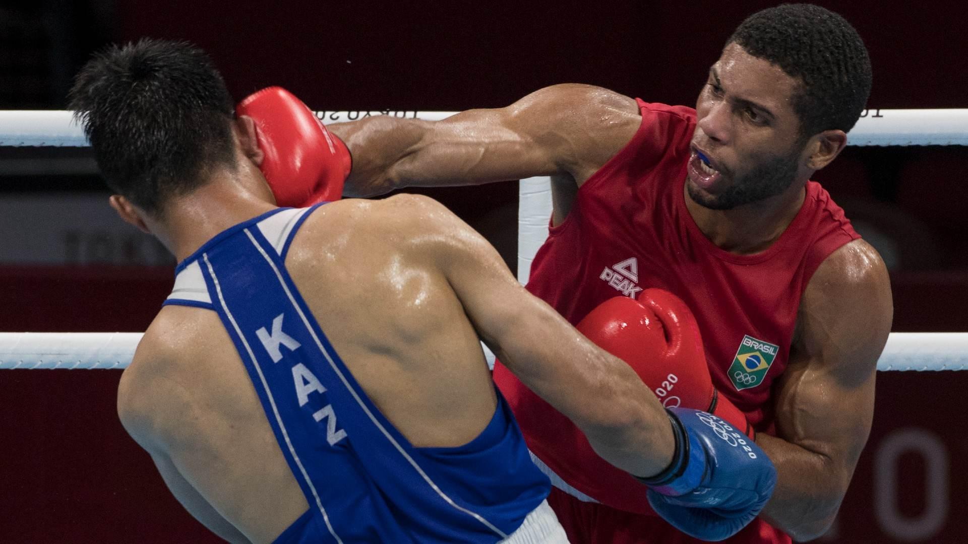 Hebert Sousa garantiu, ao menos, a medalha de bronze para o boxe brasileiro