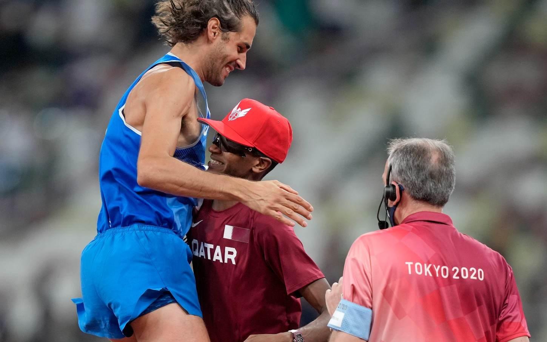 Gianmarco Tamberi e Mutaz Barshim dividiram medalha de ouro no salto em altura