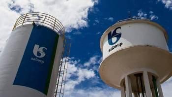 Por volta das 15h15, os papéis da Sabesp saltavam 9,89%, a R$ 36,23