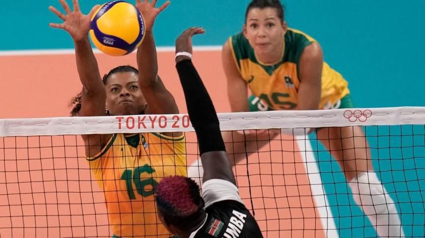 Fernanda Garay foi destaque da seleção brasileira feminina de vôlei na primeira fase das Olimpíadas de Tóquio
