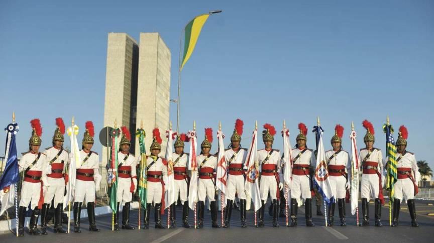 Desfile do 7 de setembro de 2020 foi reduzido e transmitido pela internet devido à Covid-19