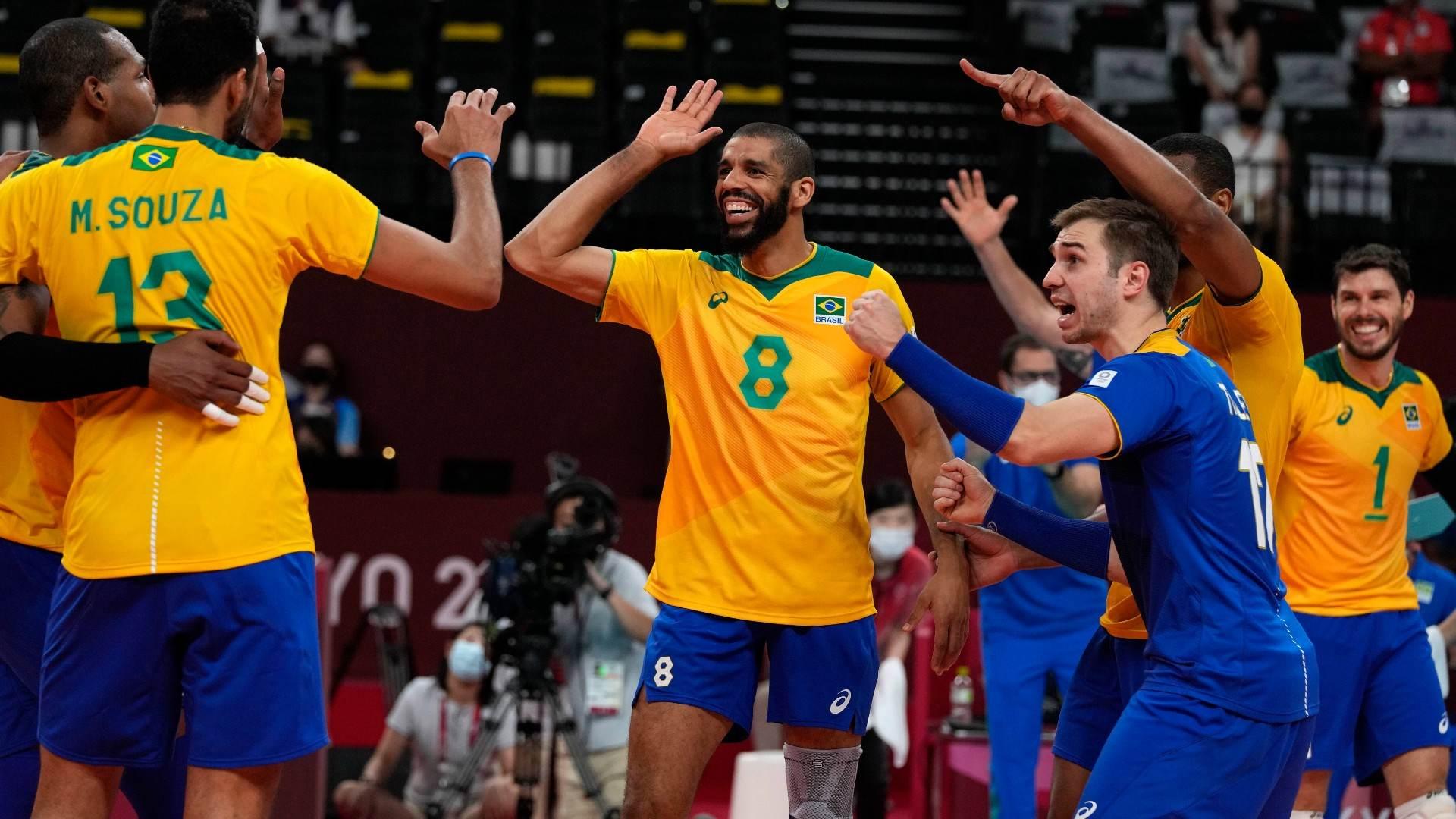 Seleção brasileira de vôlei masculino venceu o Japão pelas quartas de final