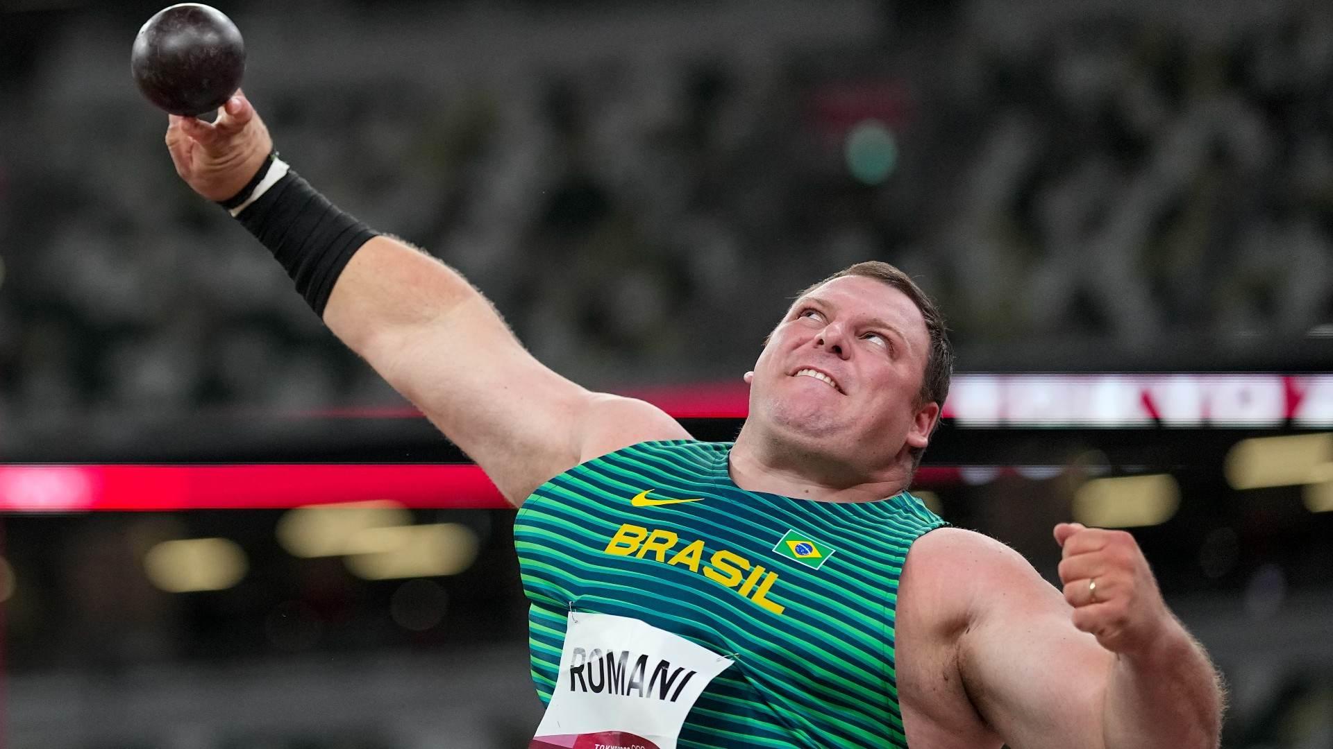 Darlan Romani arremessou peso a 21,31m e se classificou para final olímpica