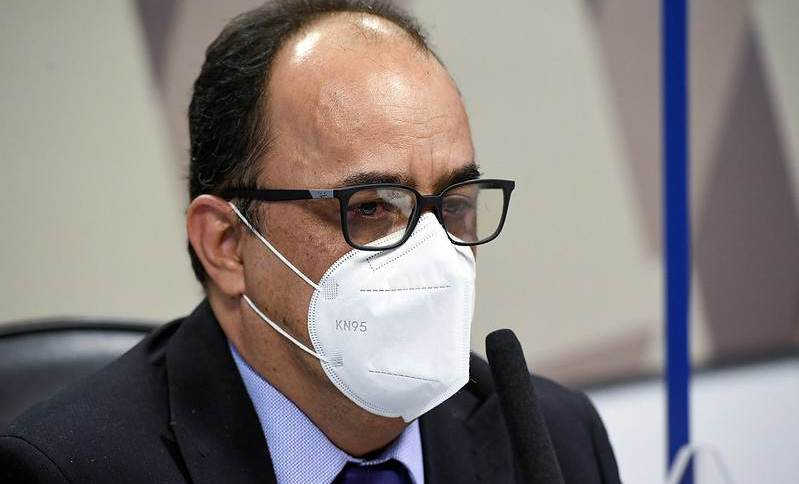 Amilton Gomes de Paula durante CPI da Pandemia