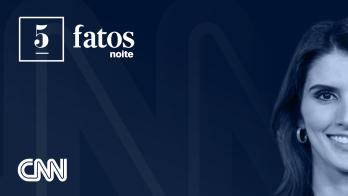 5 Fatos Noite, apresentado por Carol Nogueira, repercute principais notícias do Brasil e do mundo