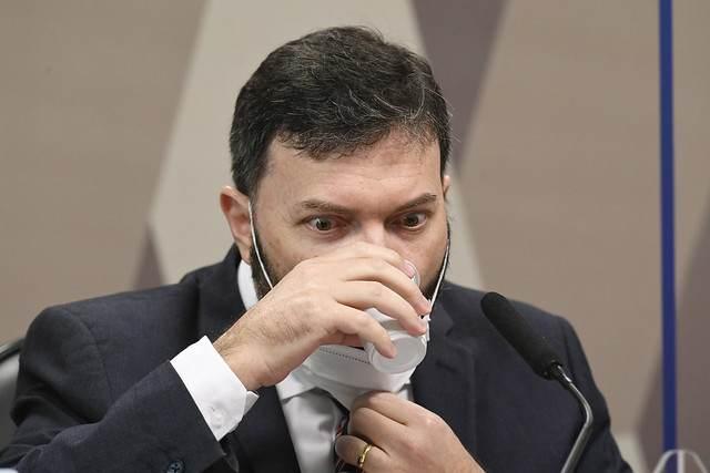 Marcelo Blanco, ex-assessor do Departamento de Logística do Ministério da Saúde, durante depoimento à CPI da Pandemia