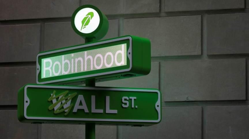 Logotipo da plataforma de investimentos Robinhood. 29/7/2021