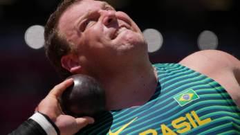 Medalha de ouro ficou com o atual recordista mundial, Ryan Crouser, dos Estados Unidos, que já tinha sido campeão no Rio