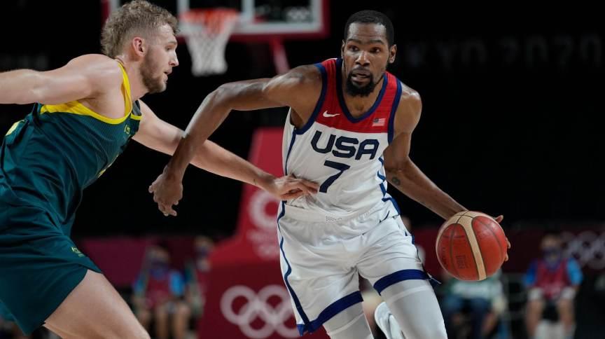 Os Estados Unidos contaram com o talento de Kevin Durant para vencer os australianos