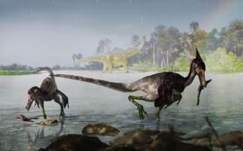 O dinossauro, nomeado de Ypupiara lopai, é uma nova espécie dedromaeosaurídeo encontrada pela primeira vez no Brasil