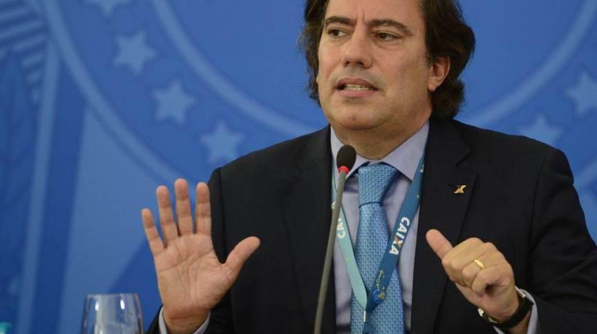 O presidente da Caixa Pedro Guimarães