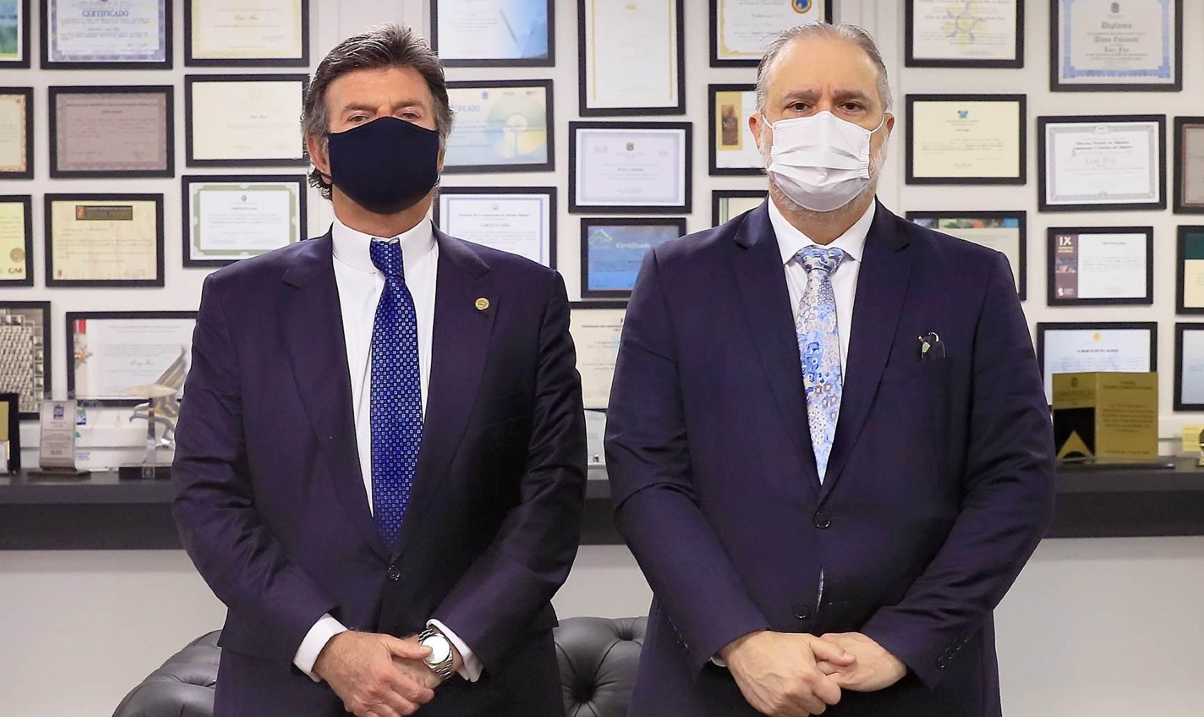 Augusto Aras e Luiz Fux