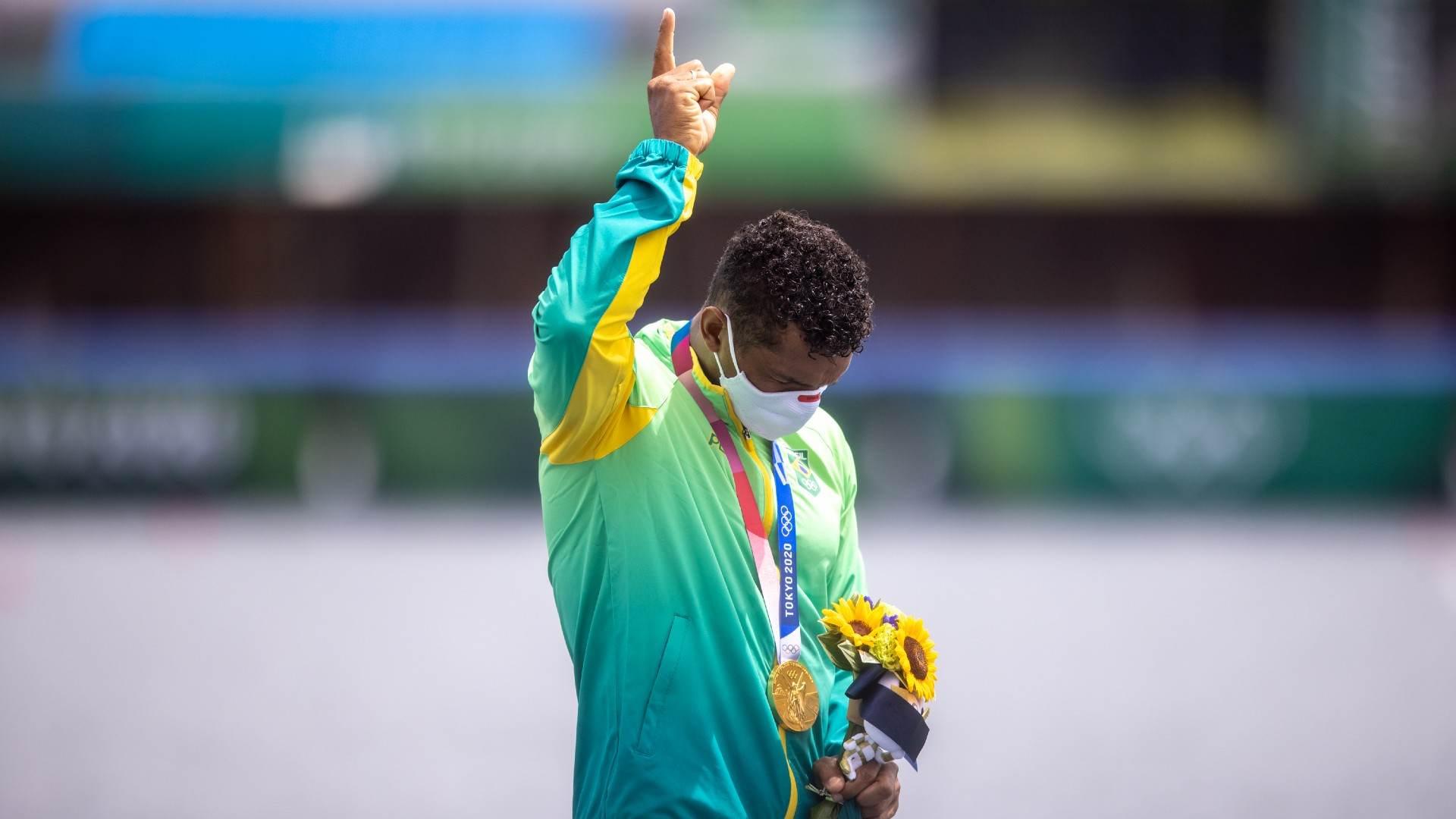 Isaquias Queiroz, campeão olímpico na canoagem