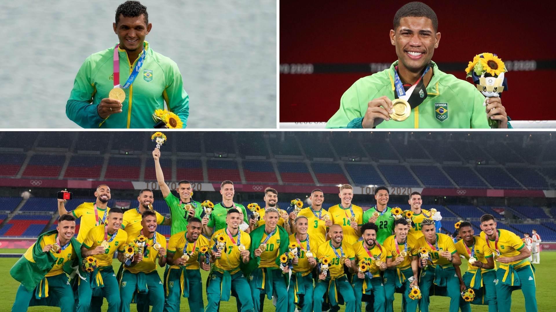 Isaquias, Hebert e futebol masculino conquistaram ouro para o Brasil
