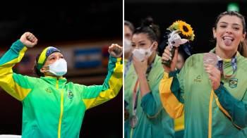 Beatriz Ferreira e a equipe feminina de vôlei ficaram na segunda posição em suas disputas; brasileiro se destacou na maratona, mas não completou prova