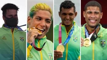 Pela 1ª vez nas participações brasileiras nos Jogos, maioria dos ouros do país não vem de atletas do sudeste; desempenho supera países europeus