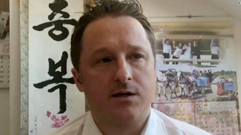 Michael Spavor fala durante entrevista em vídeo no dia 2 de março de 2017