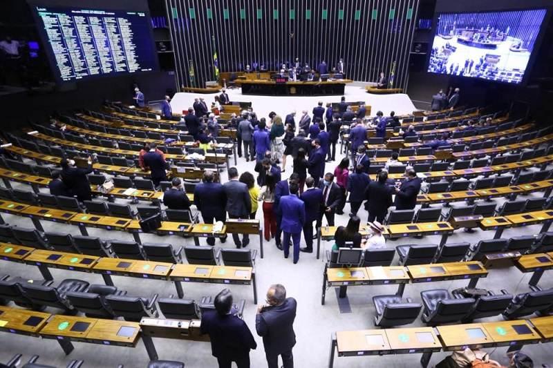 Plenário da Câmara dos Deputados durante votação da PEC do voto impresso