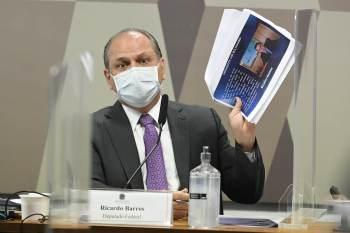 Em depoimento à CPI da Pandemia, Ricardo Barros afirmou que a condução dos trabalhos da CPI afastou empresas interessadas na negociação dos imunizantes
