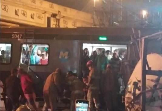 Acidente em metrô do Rio