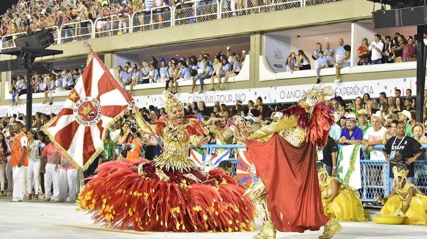 Desfile das escolas de samba do Rio de Janeiro no Carnaval 2020